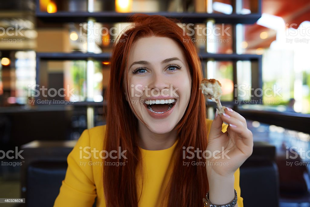 enjoy my chicken wings stock photo