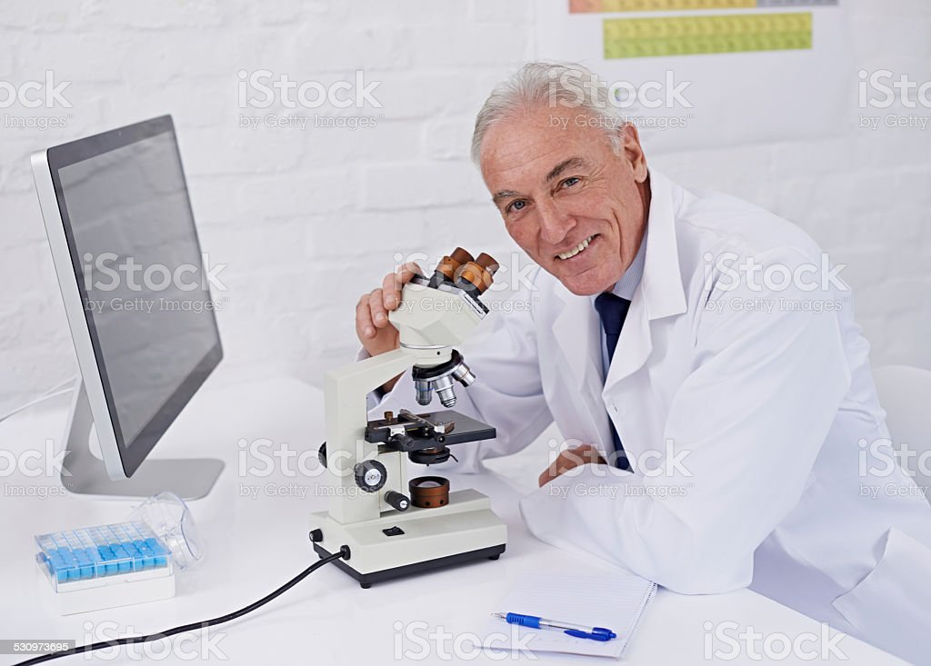 I enjoy my job as a scientist stock photo