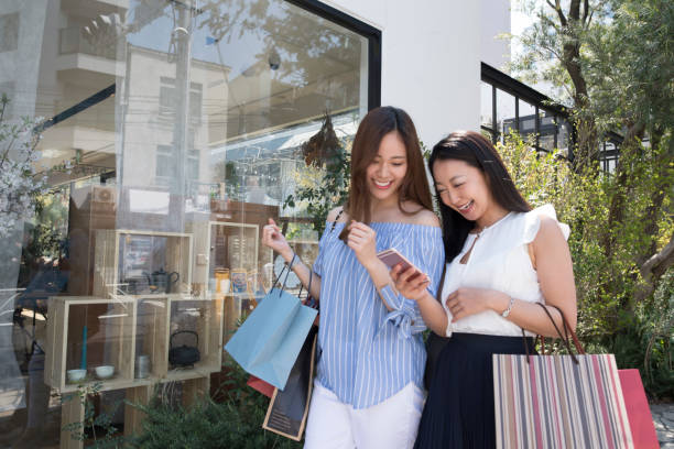 Enjoy shopping for women stock photo