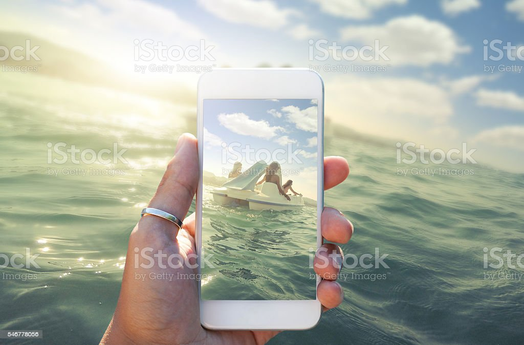 Enjoy summer - Share your best moment stock photo