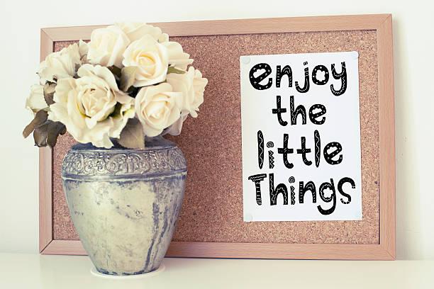 genießen sie den kleinen dinge - das leben genießen zitate stock-fotos und bilder