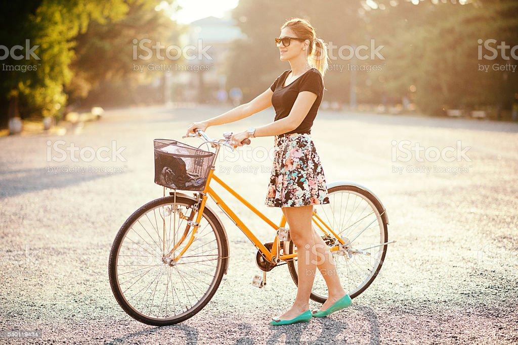 Enjoy the ride and enjoy the life stock photo