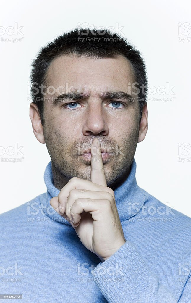 enjoy the silence royalty-free stock photo