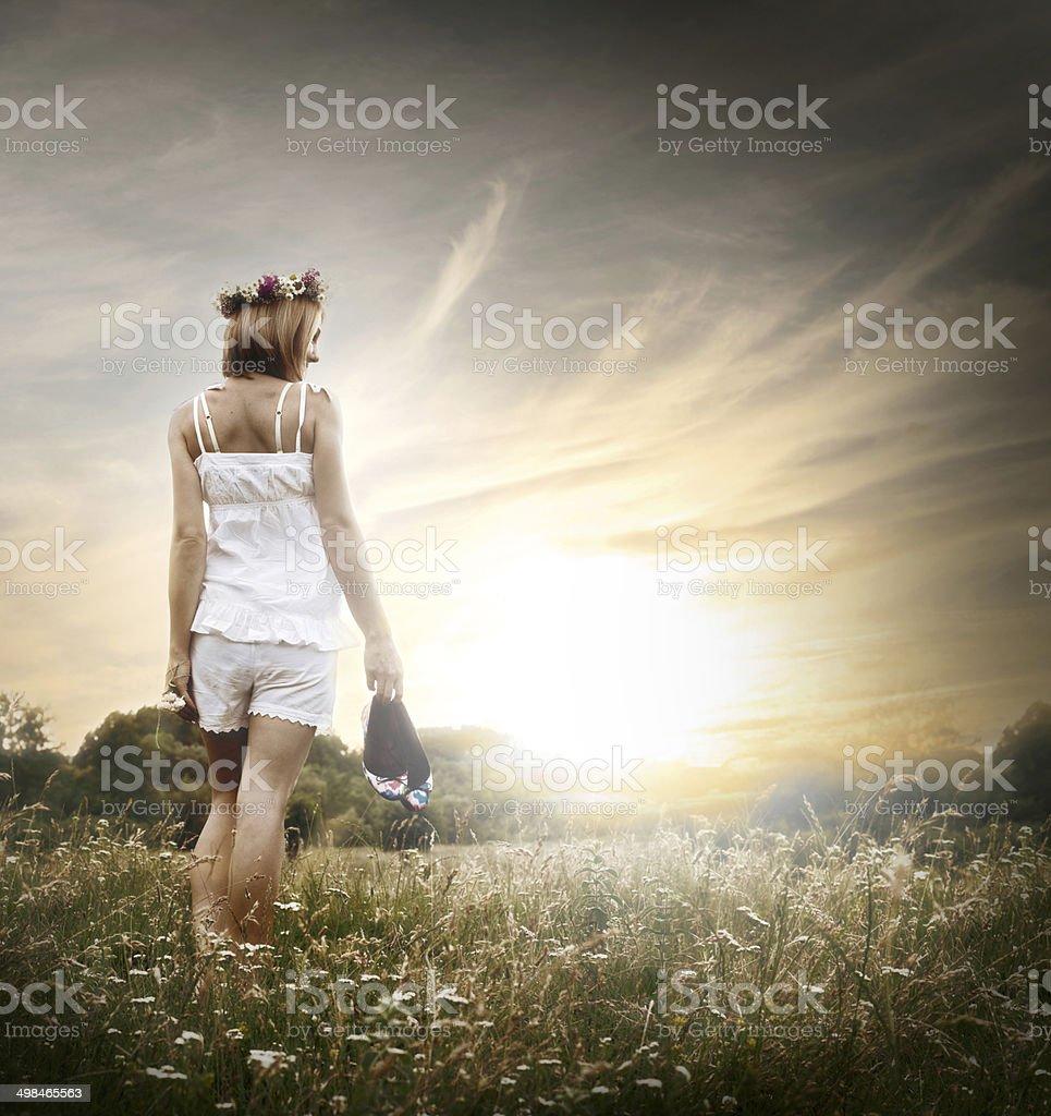 enjoy the summertime stock photo