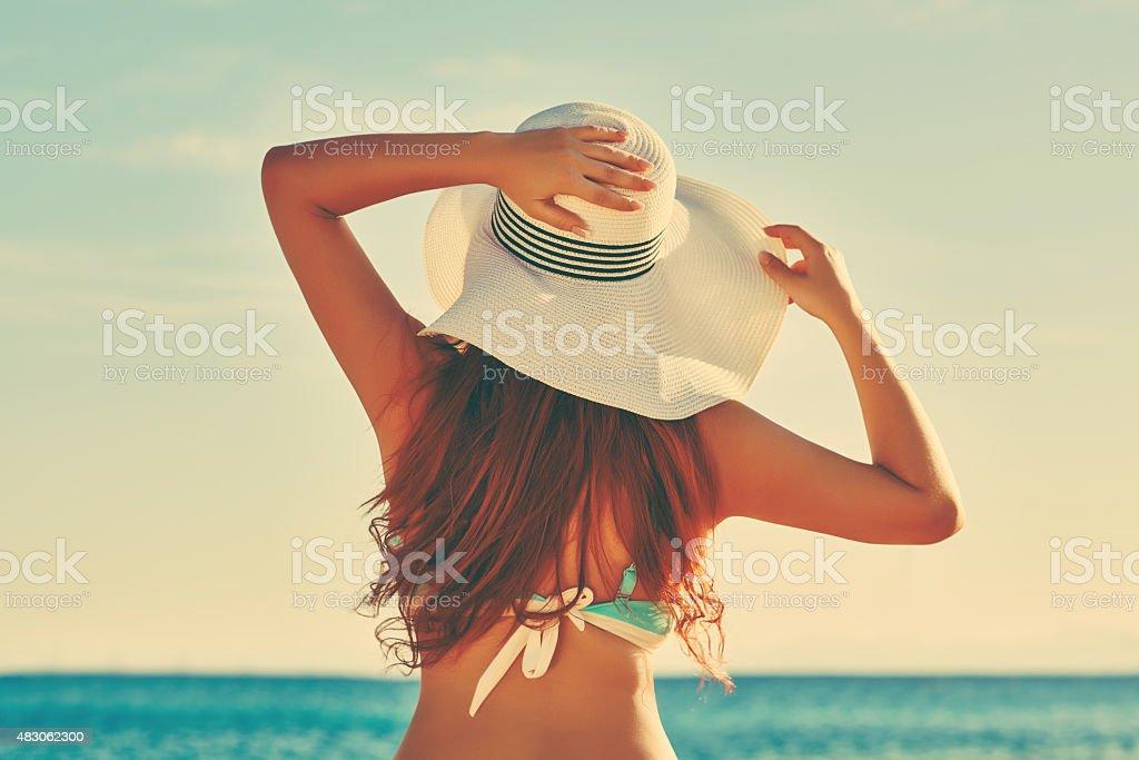 enjoy vacation moment stock photo
