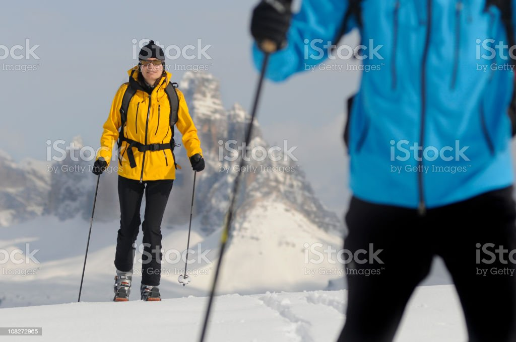 enjoy winter and snow time with sport royalty-free stock photo