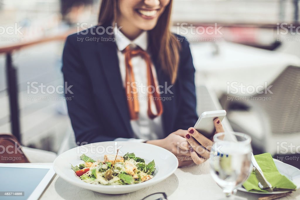 Enjoy your meal! stock photo