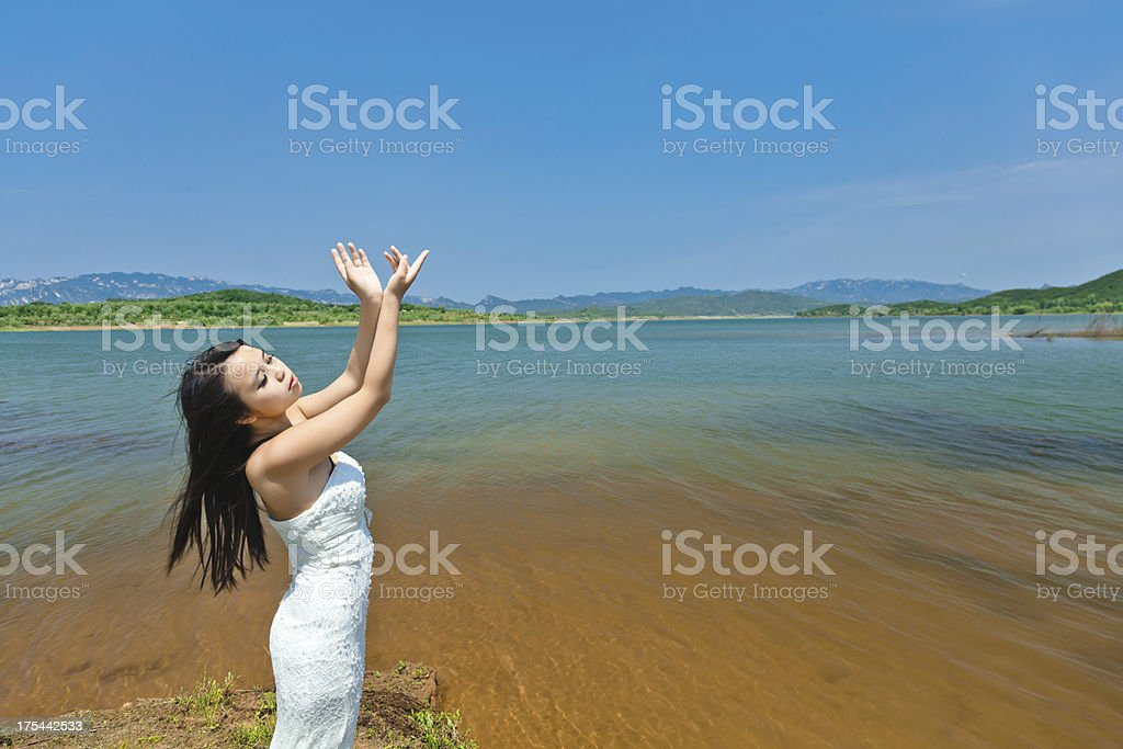 Enjoy yourself in nature - Stock image .