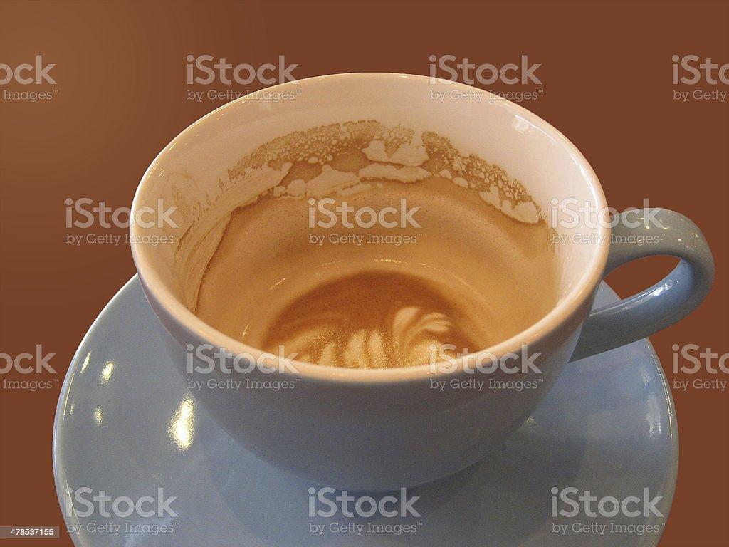 Enjoyed Cappuccino stock photo