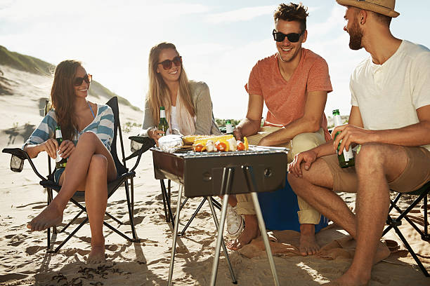 D'un barbecue sur la plage - Photo
