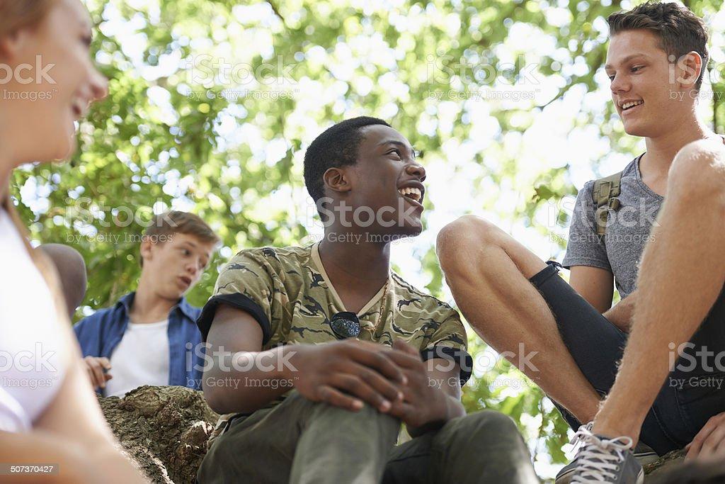 Enjoying a beautiful summer together stock photo