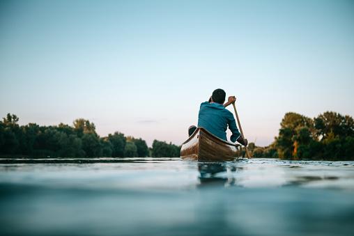 Enjoying a boat ride