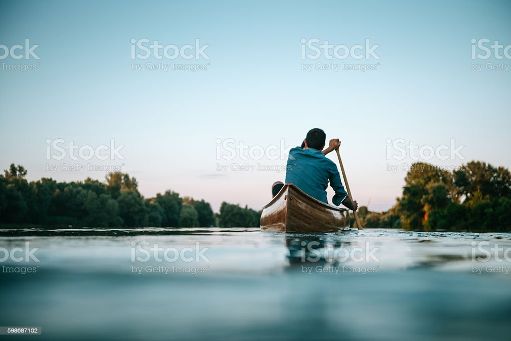 Enjoying a boat ride stock photo