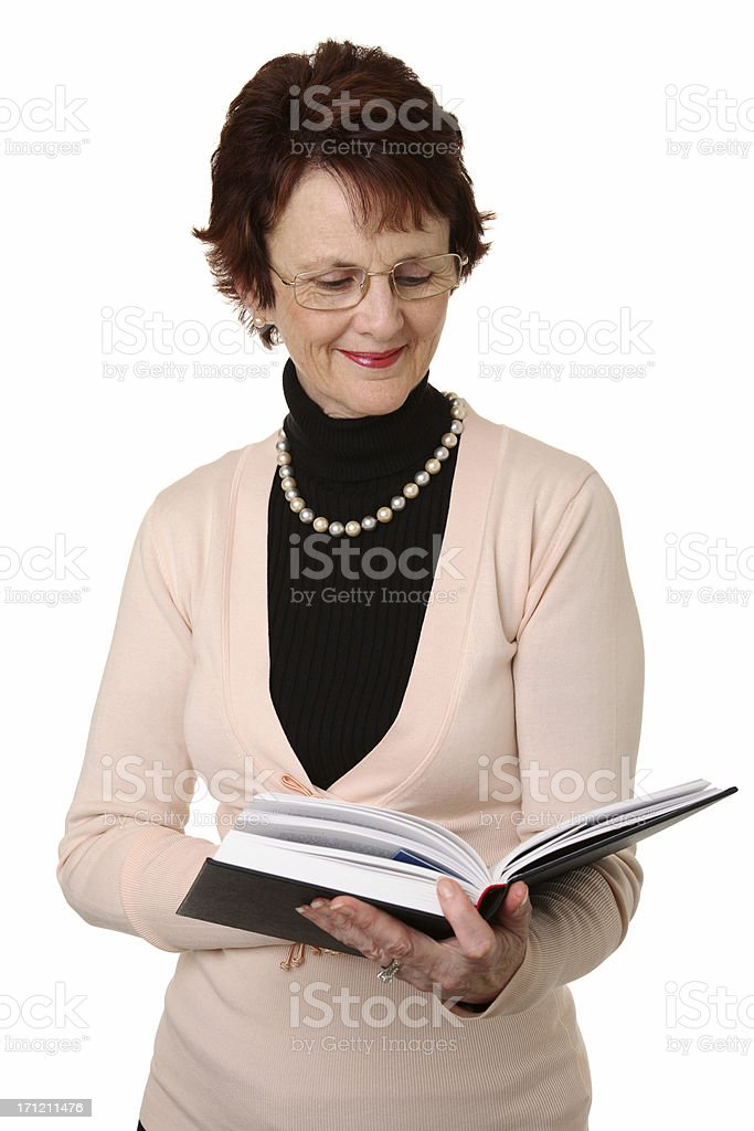 Enjoying A Book. royalty-free stock photo