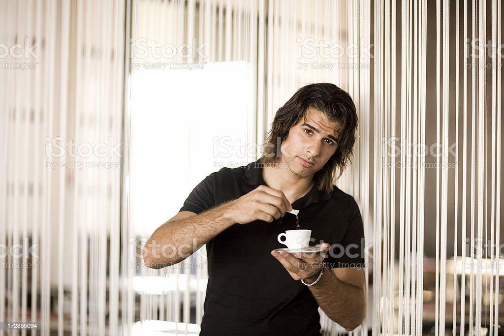 Disfruta de un café foto de stock libre de derechos