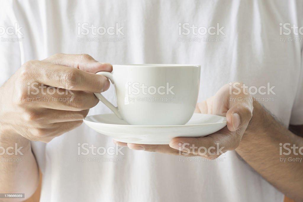 Disfruta de una taza de café foto de stock libre de derechos
