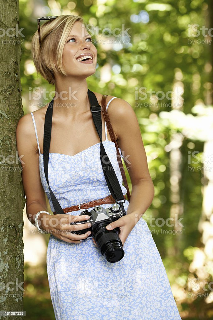 Enjoying a day of photography outdoors royalty-free stock photo