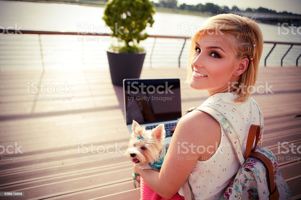 Enjoying a day together. stock photo
