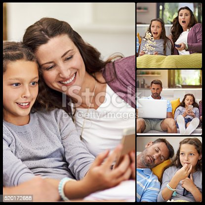 1134439364 istock photo Enjoying a family day at home 520172688