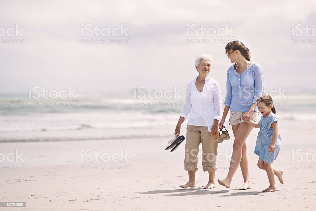 Enjoying a girl's day out stock photo
