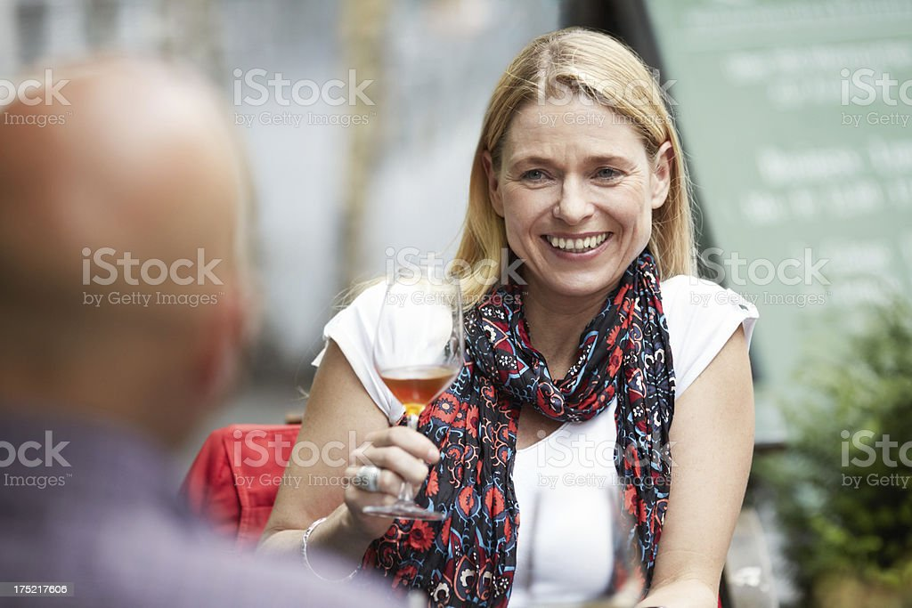 Enjoying a glass of fine wine royalty-free stock photo
