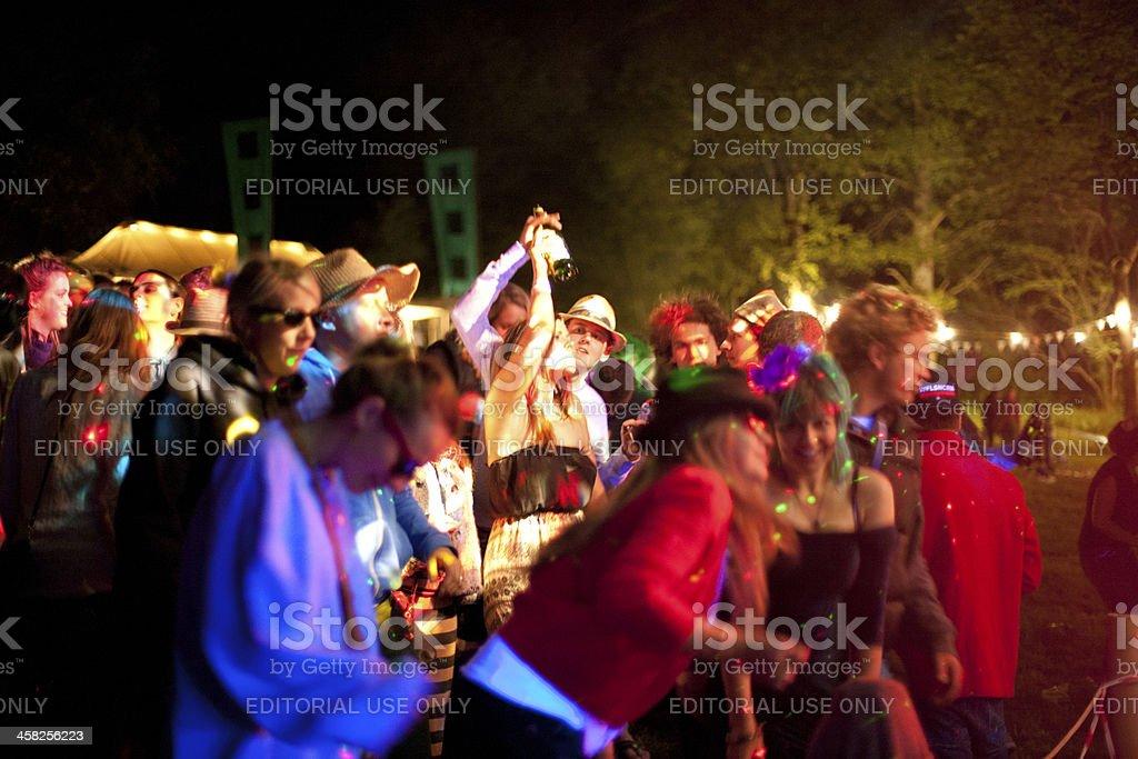 Enjoying a live music event stock photo