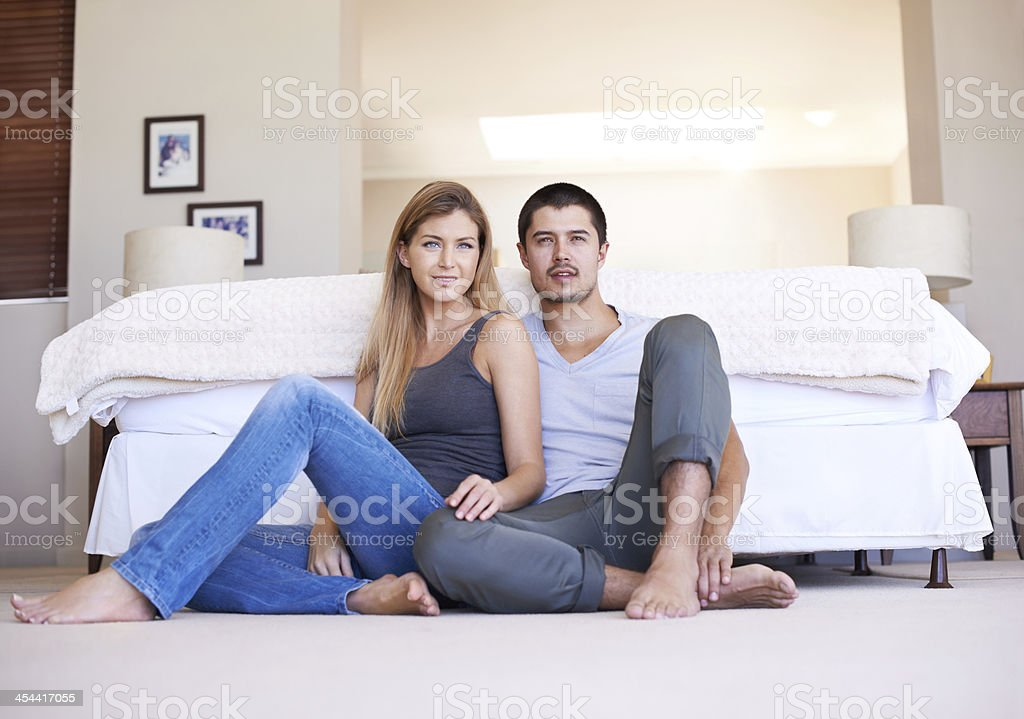 Enjoying a quiet day at home royalty-free stock photo