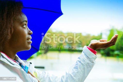 istock Enjoying a rainy day in the city 186714563
