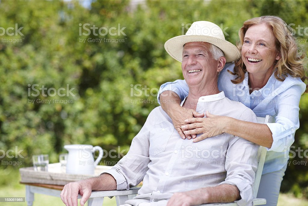Enjoying a relaxed afternoon together royalty-free stock photo