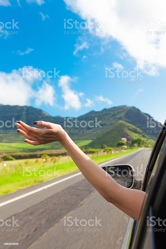 Enjoying a ride in the country royalty-free stock photo