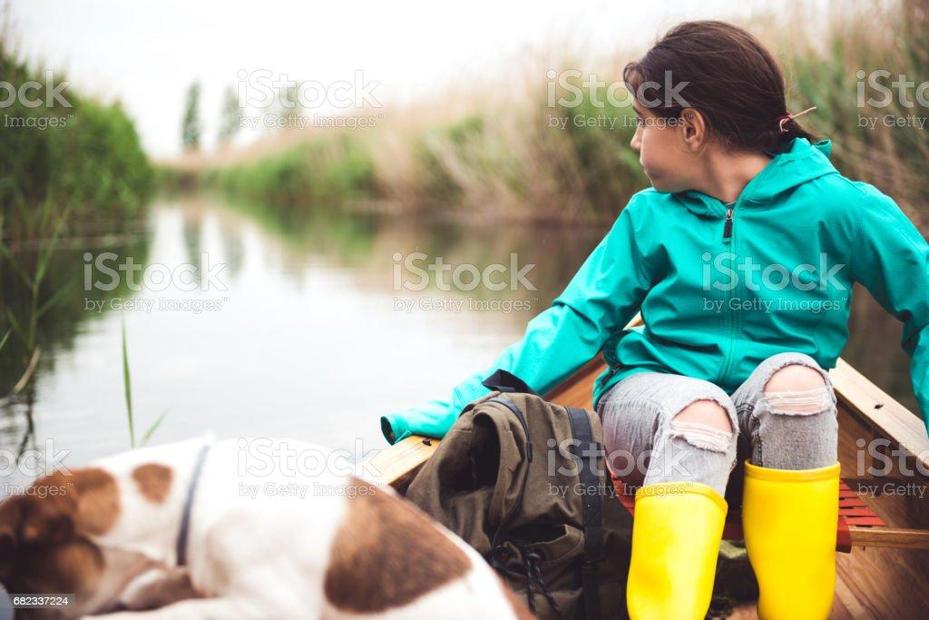 Enjoying a ride with her best friend zbiór zdjęć royalty-free