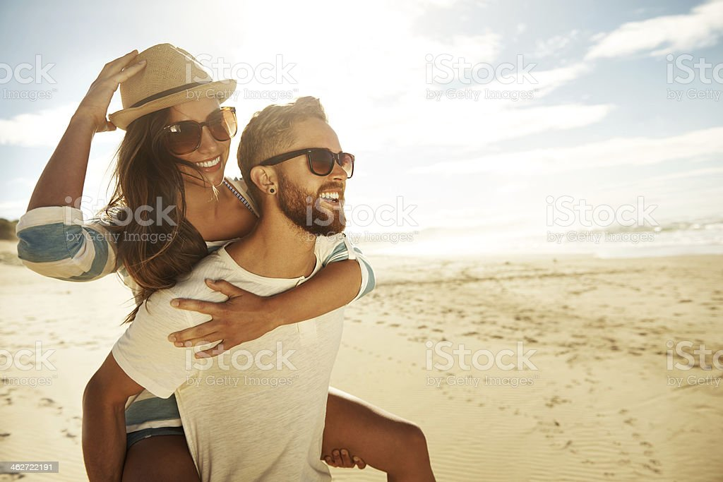 Enjoying a spectacular view stock photo