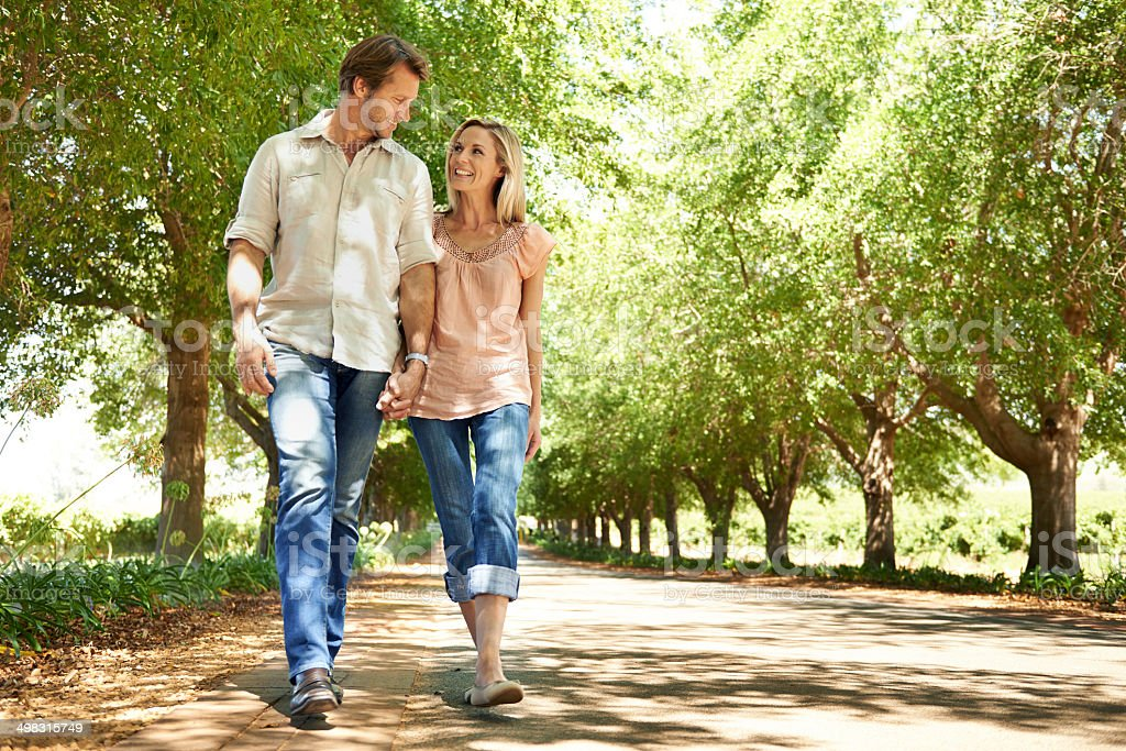 Enjoying a summer walkabout stock photo