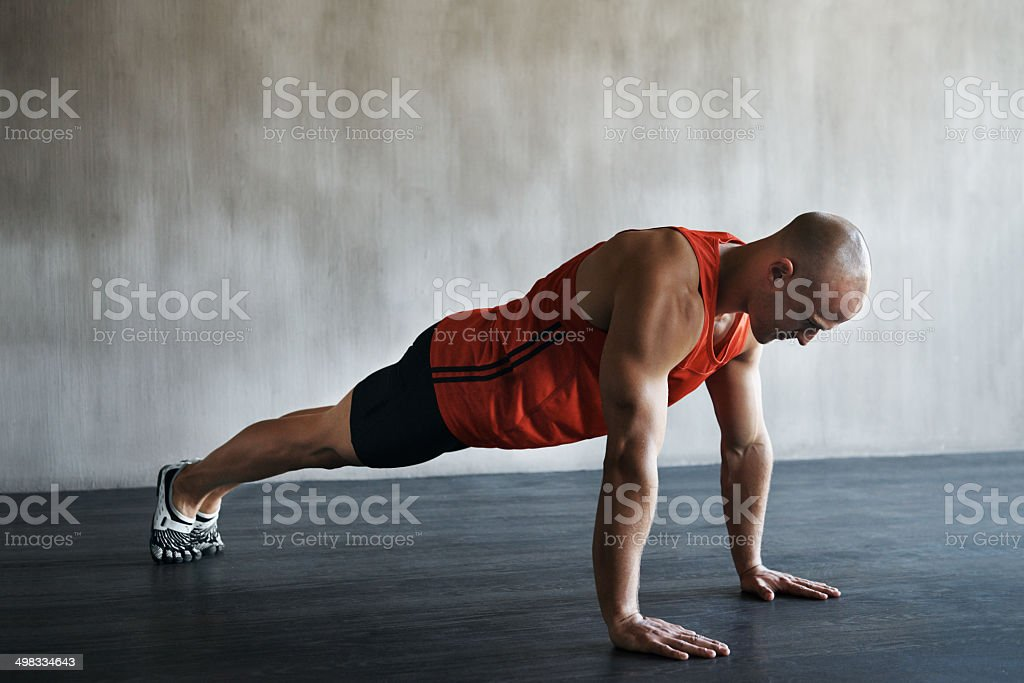 Enjoying a tough morning workout stock photo