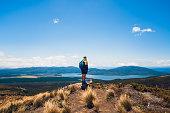 Hiking through Tongariro Crossing, Taupo, New Zealand.