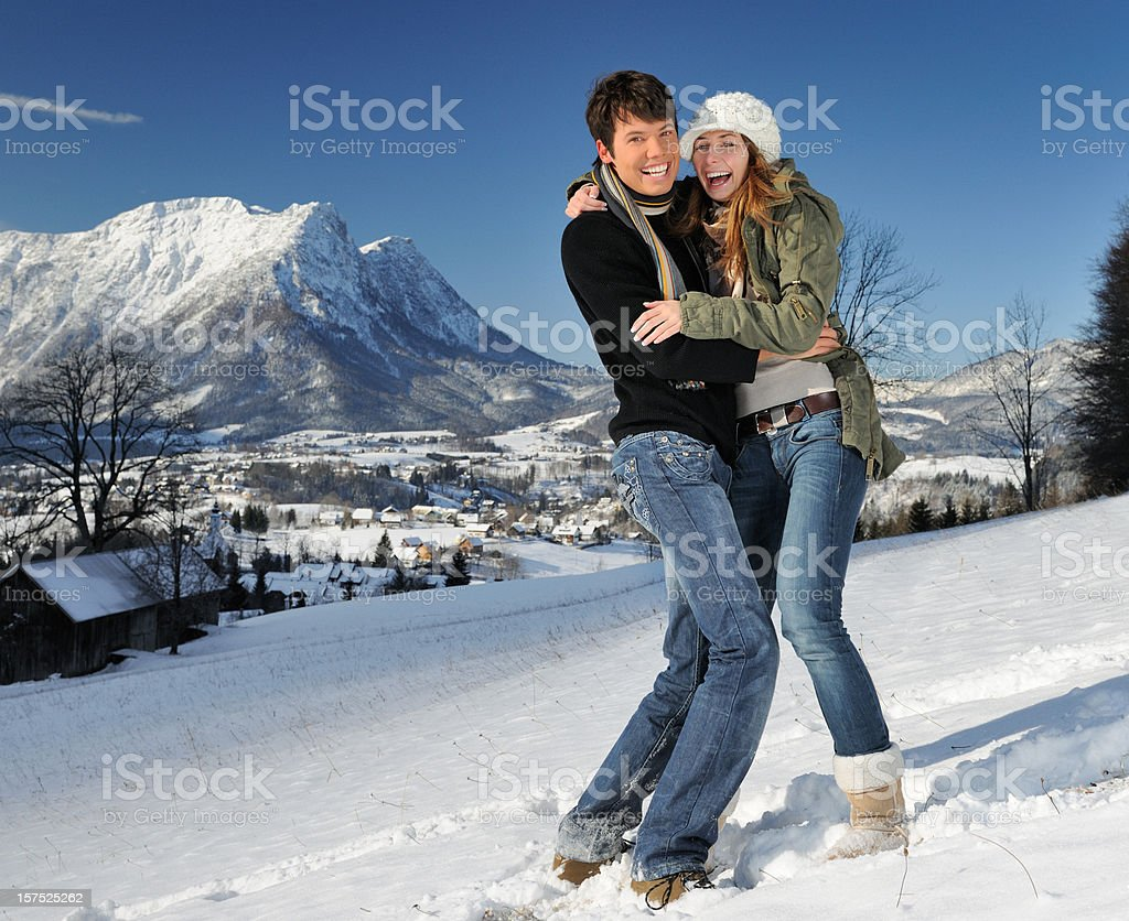 Enjoying a wonderful Winter Day (XXL) royalty-free stock photo