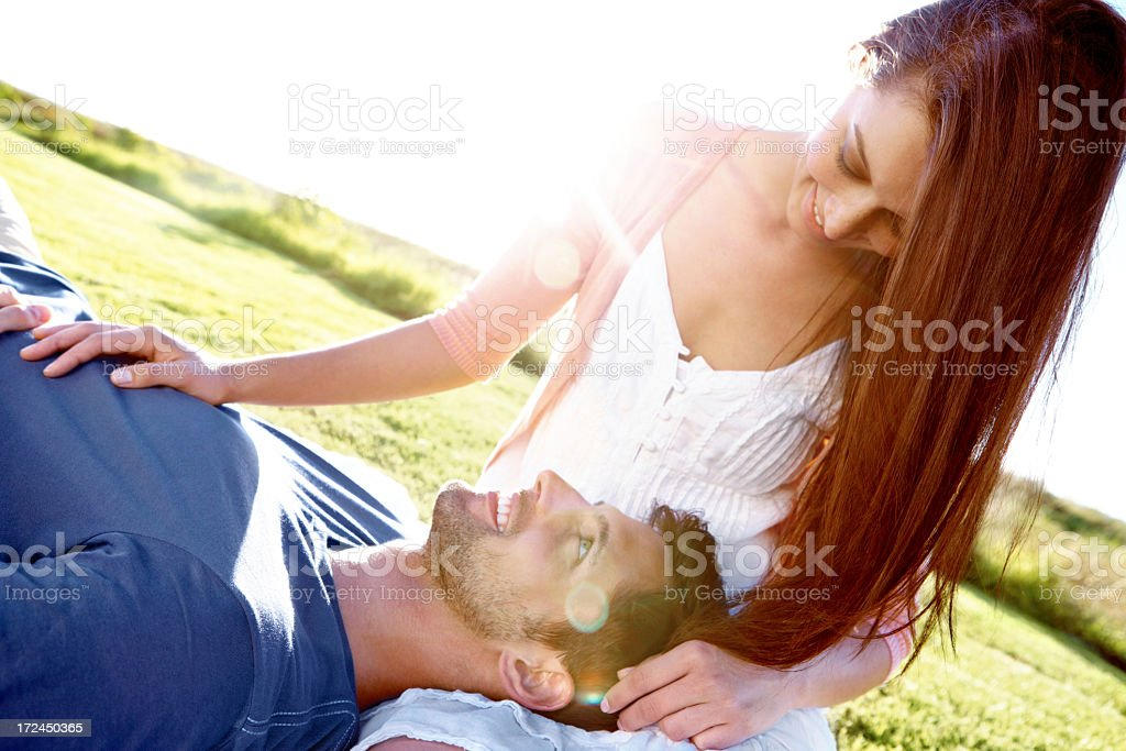 Enjoying an intimate moment royalty-free stock photo