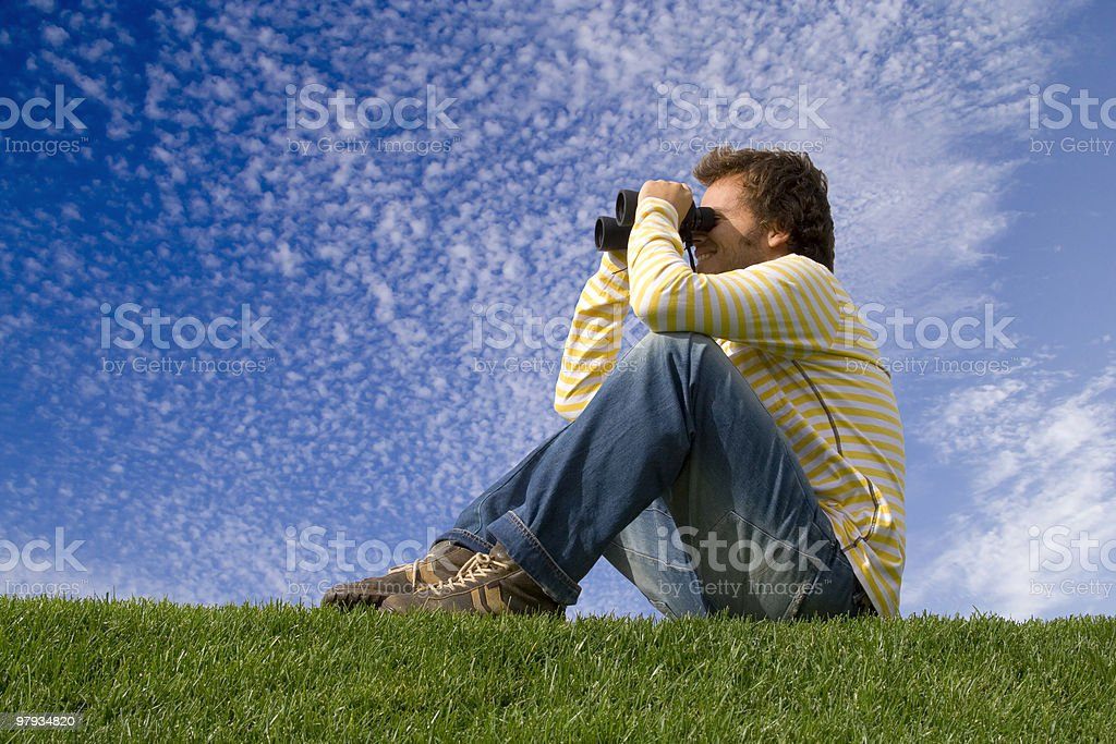 enjoying and observe the nature royalty-free stock photo