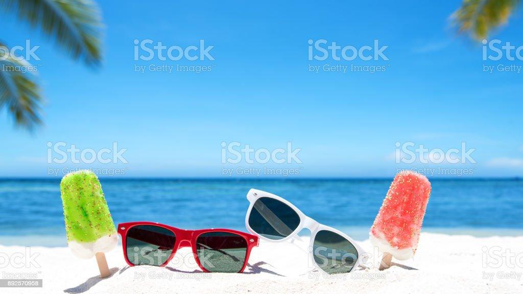 Enjoying beach holidays stock photo
