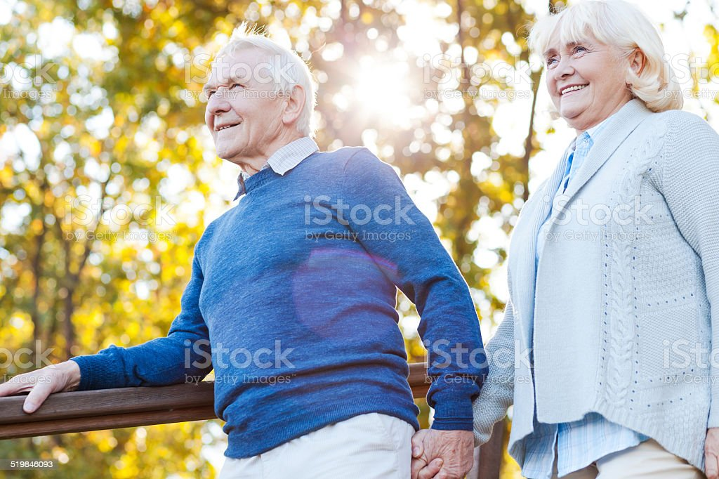 Enjoying beautiful day together. stock photo