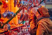 istock Enjoying Christmas Market 855493328