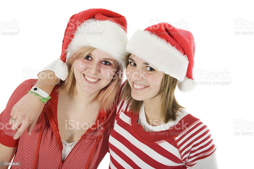 enjoying Christmas royalty-free stock photo