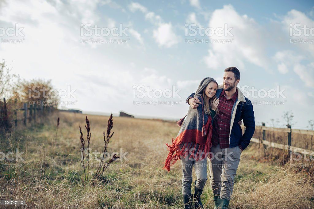 Enjoying country living stock photo