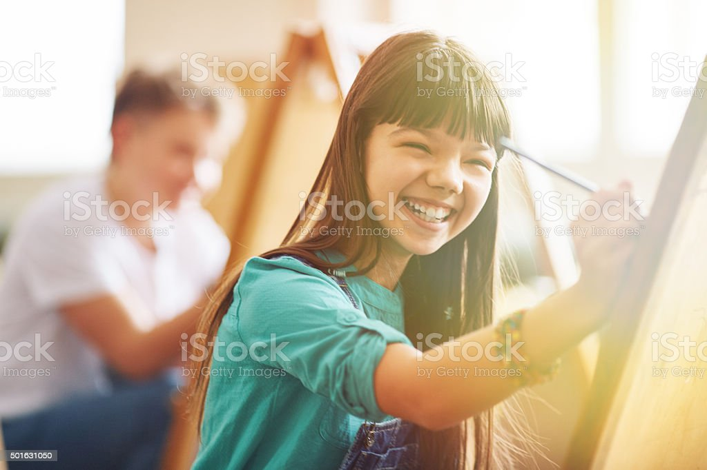 Enjoying creativity stock photo
