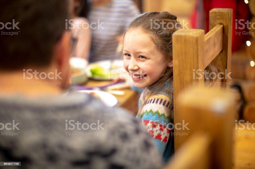 Enjoying Dinner royalty-free stock photo