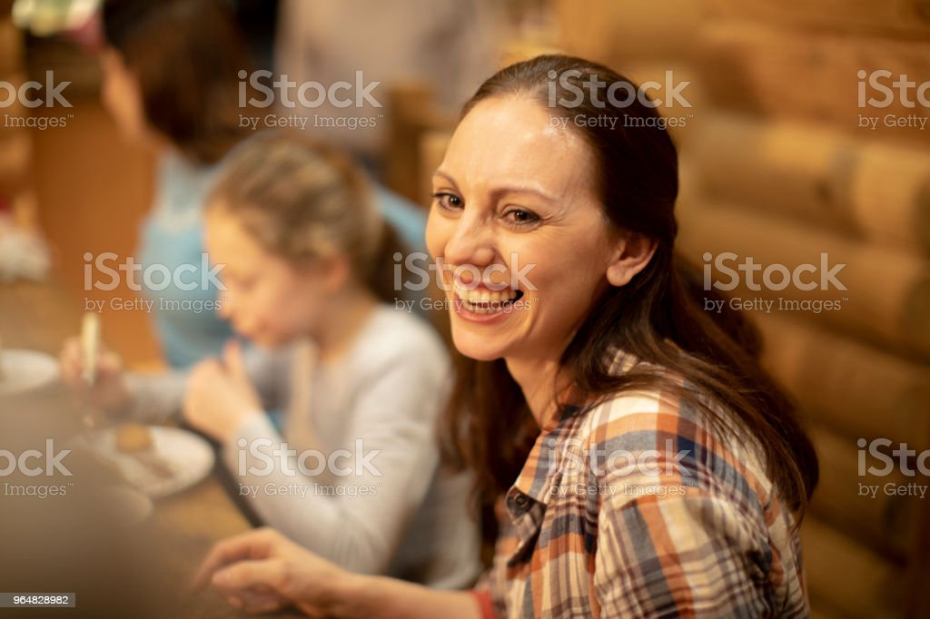 Enjoying Dinner royalty-free stock photo