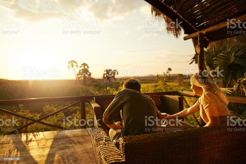 Genießen Sie Getränke und Sonnenuntergänge auf unseren Urlaub – Foto