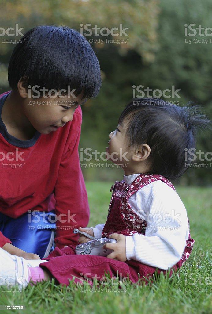 Enjoying each other's company royalty-free stock photo