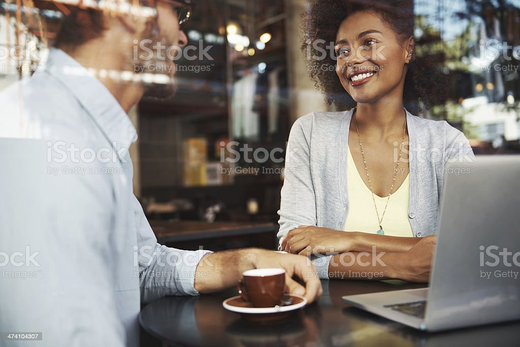Enjoying each other's company stock photo