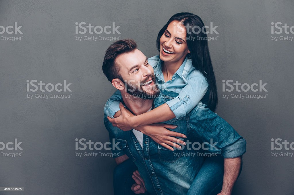 Enjoying every second together. stock photo